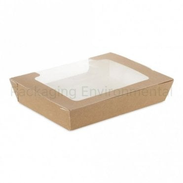1000ml Brown Paper Salad Container
