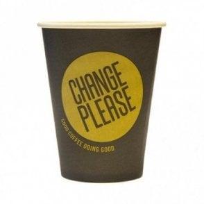 12oz Compostable Paper Cup - Change Please