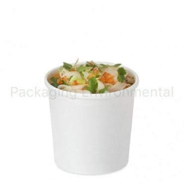 12oz White Soup Container