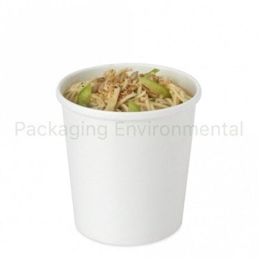 16oz White Soup Container