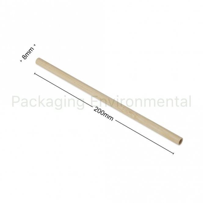 200mm x 8mm Bamboo Straw