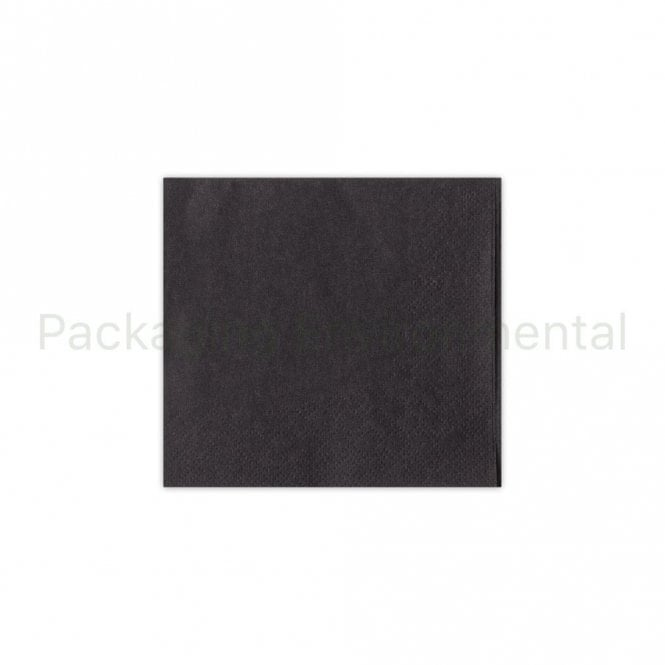24cm 2-Ply Cocktail Napkin - Black