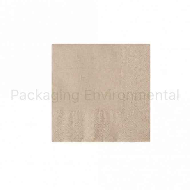 24cm 2-Ply Cocktail Napkin - Natural