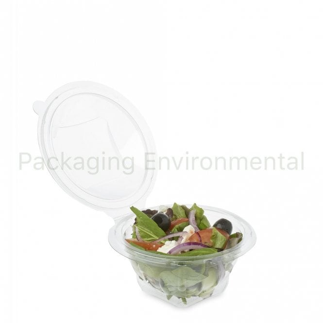 250ml Hinged Lid Container - Round