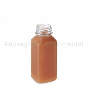 250ml Square Juice Bottle (Lid Sold Separately)