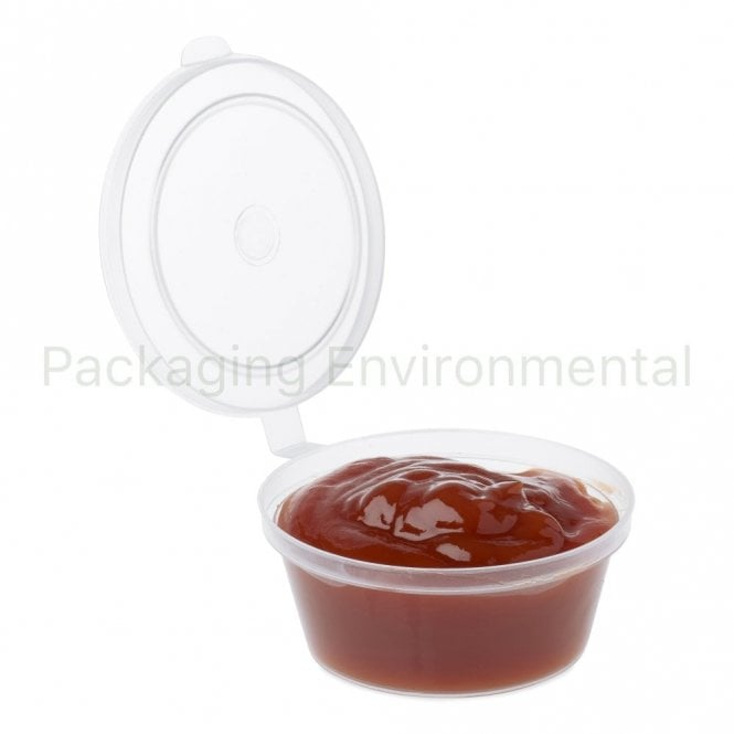 2oz Hinged-Lid Plastic Portion Pot