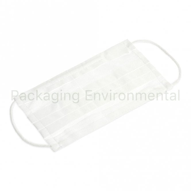 3 Layer White Surgical Mask