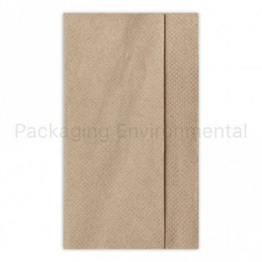 33cm 1-Ply Dispenser Napkin - Natural