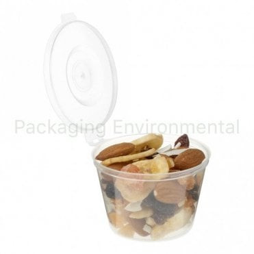 4oz Hinged-Lid Plastic Portion Pot