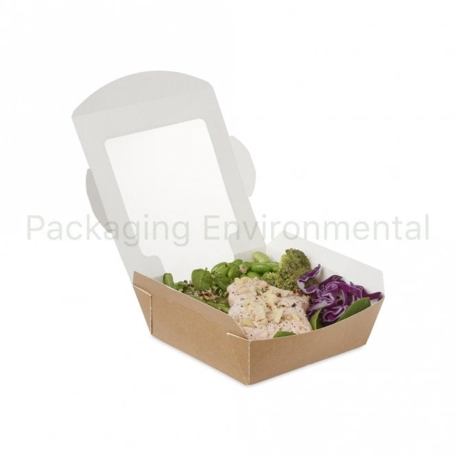 600ml Brown Paper Salad Container