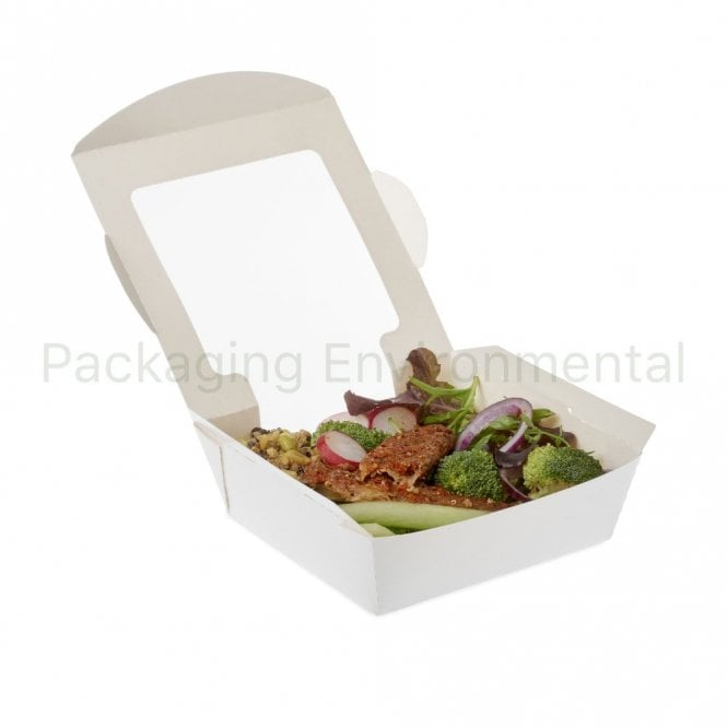 600ml White Paper Salad Container