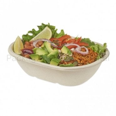 620ml Oval Baggasse Bowl