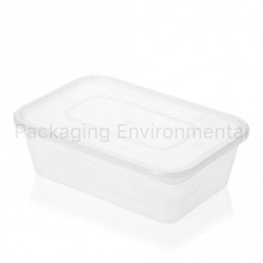 650ml Satco Rectangular PP Container & Lid