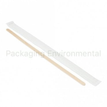 "7.5"" Wrapped Wooden Stirrer"