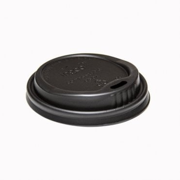 8oz Black Lid – Biodegradable