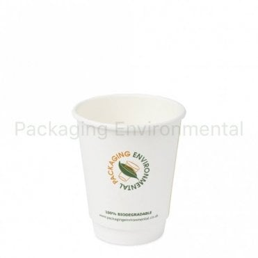 8oz Double Wall Biodegradable Paper Cup