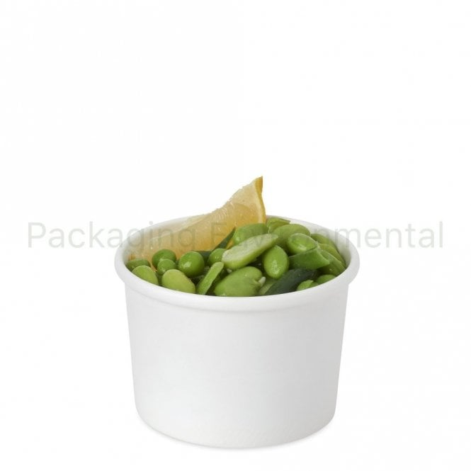8oz White Soup Container