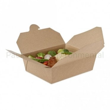 900ml Kraft Takeaway Box