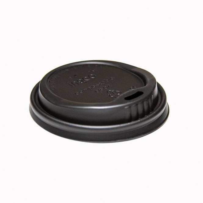 Biodegradable Lid (Black) - For 8oz Paper Cups