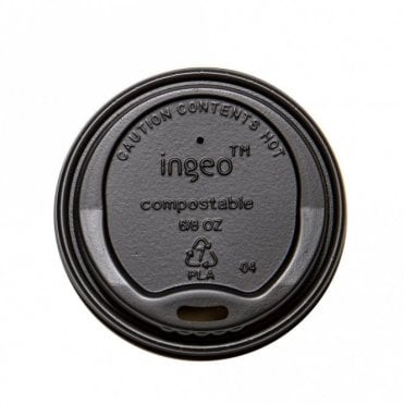 Black Lid for 4oz Paper Cups