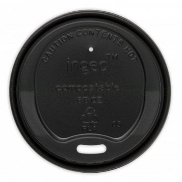 Black Lid for 8oz Paper Cups