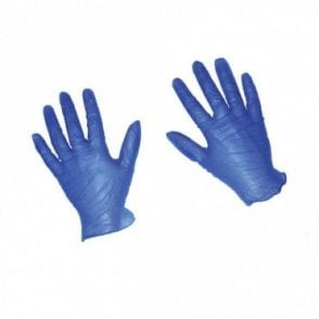 Blue Powdered Gloves - Large