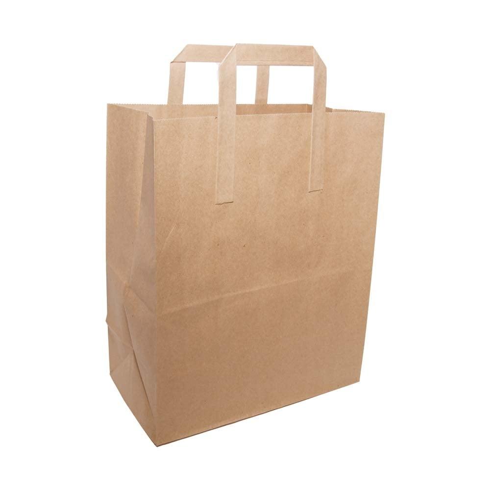 Brown Paper Bag With Handles Large Packaging Environmental