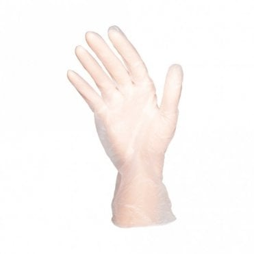 Clear Powder Free Gloves - Large