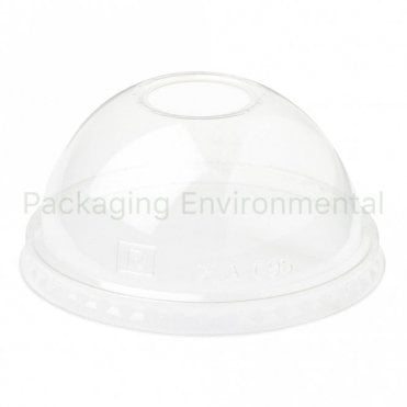 Domed Lid for 10-20oz Bioplastic Cups