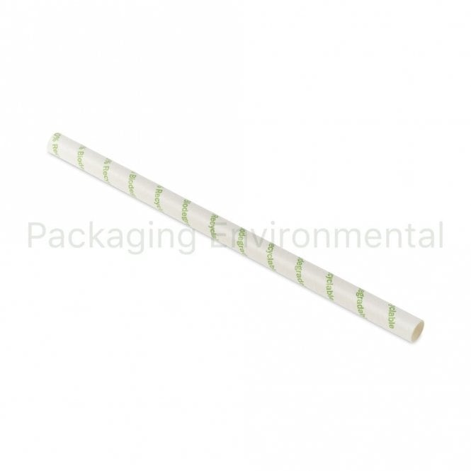 Eco Stripe Paper Straw - 210mm x 10mm