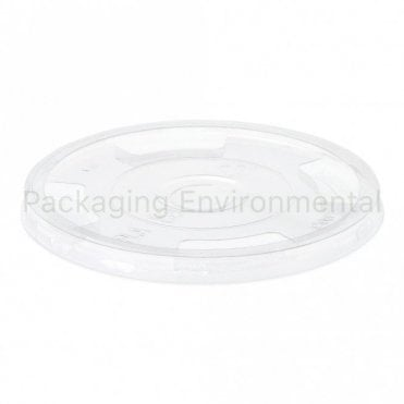 Flat Lid for 10-20oz Bioplastic Cups