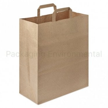 Kraft Paper Carrier Bag - Large
