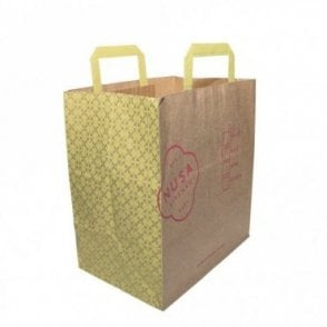 Large Kraft Brown Paper Carrier NUSA