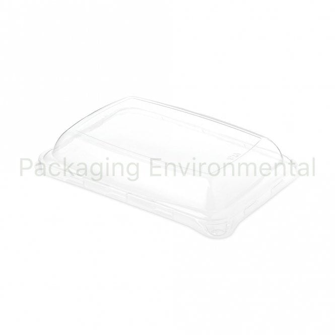 Lid for Large Rectangular Bagasse Tray