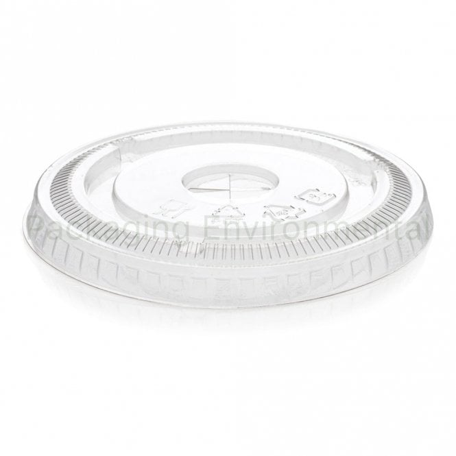 PET flat lid with X-cross hole