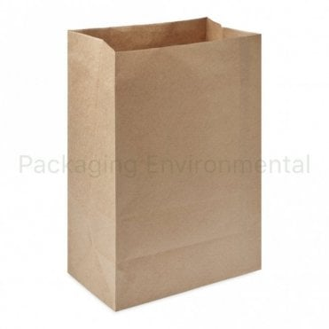 Plain Kraft Carrier Bag - No Handles - 250x140x400