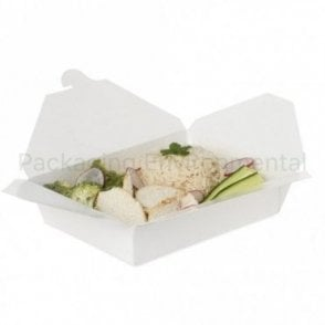 1400ml White Takeaway Box