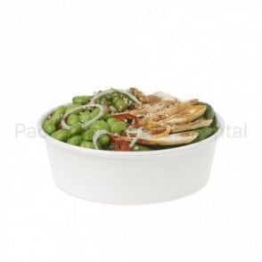 16oz White Paper Bowl
