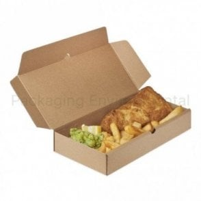 2200ml Corrugated Paper Takeaway Box