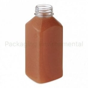 500ml Square Juice Bottle (Lid Sold Separately)