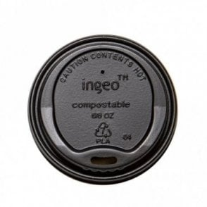 Black Lid for 6oz Paper Cups