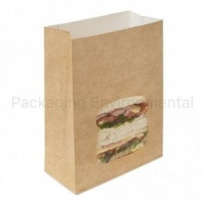 Brown Pop-Up Sandwich Bag