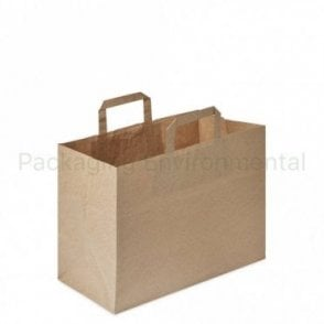 Plain Kraft Carrier Bag - 320x180x270