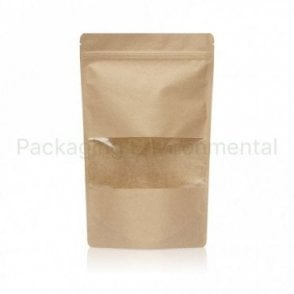 Stand Up Pouch With Zip Lock & Window - 500g