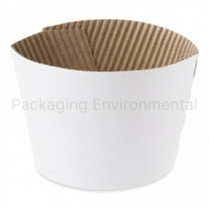 White Sleeve for 10-16oz Paper Cups