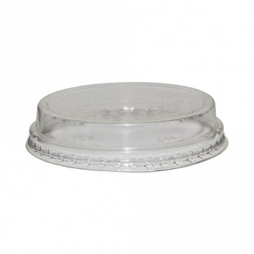 Raised Lid for 5-9oz Bioplastic Cups (No Straw Hole)