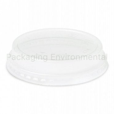 Raised Lid for 5-9oz Bioplastic Cups (With Straw Hole)