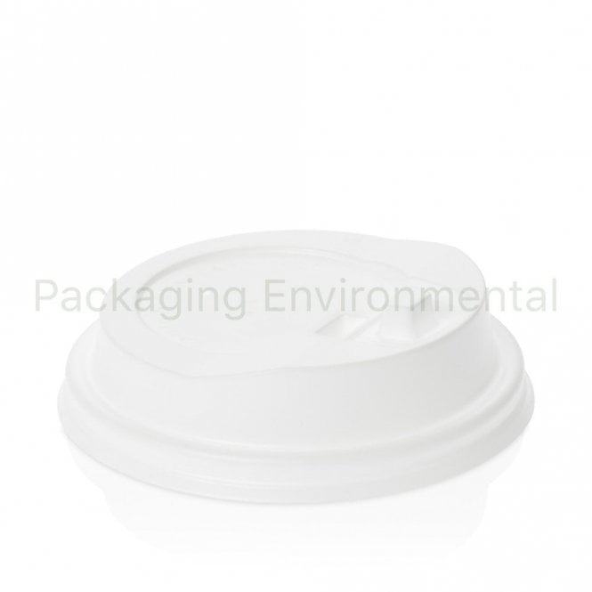 Reclosable fold over lid for 8oz cup - white