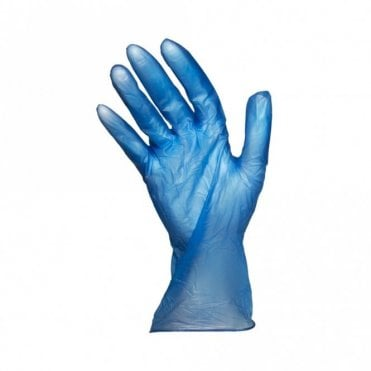 Small Blue Powder Free Gloves