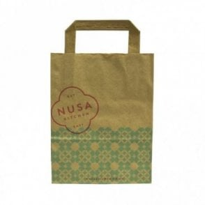 Small Kraft Brown Paper Carrier - NUSA